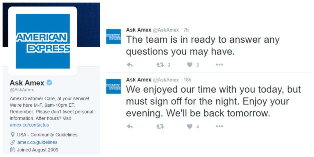 customer service american express amex twitter marketing complaints
