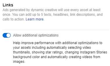 Facebook Dynamic Creatives