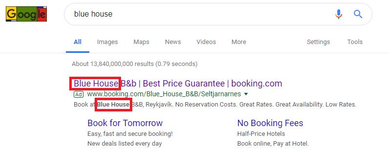 Google Ads quality score